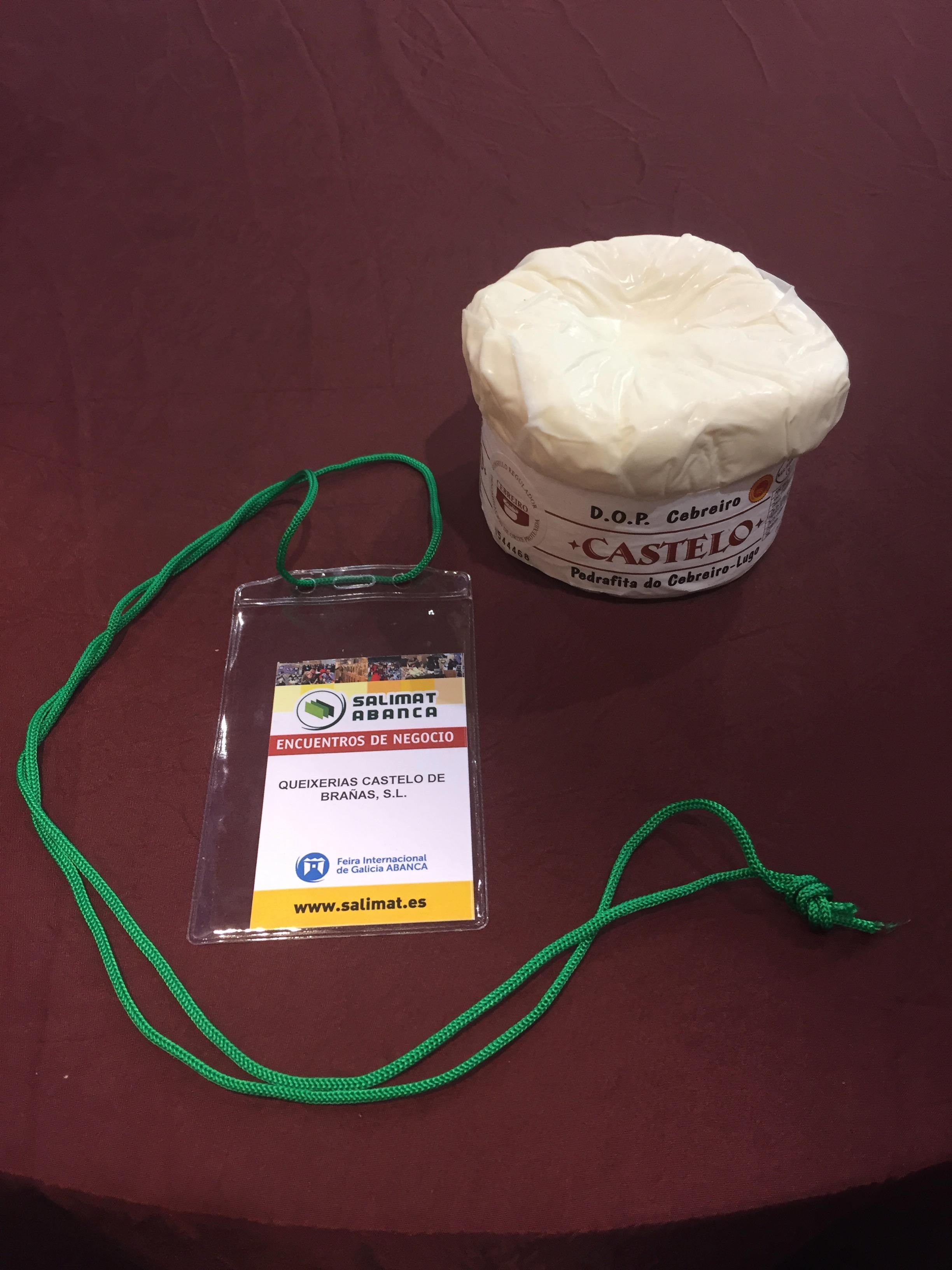 Stand del queso D.O.P. Cebreiro de la Quesería Castelo de Brañas