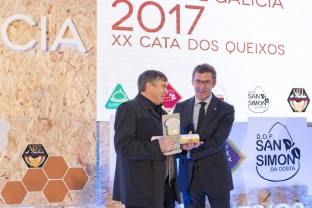 Medalla de Oro Queso Cebreiro Castelo 2017. Premios Catas Quesos y Mieles de Galicia