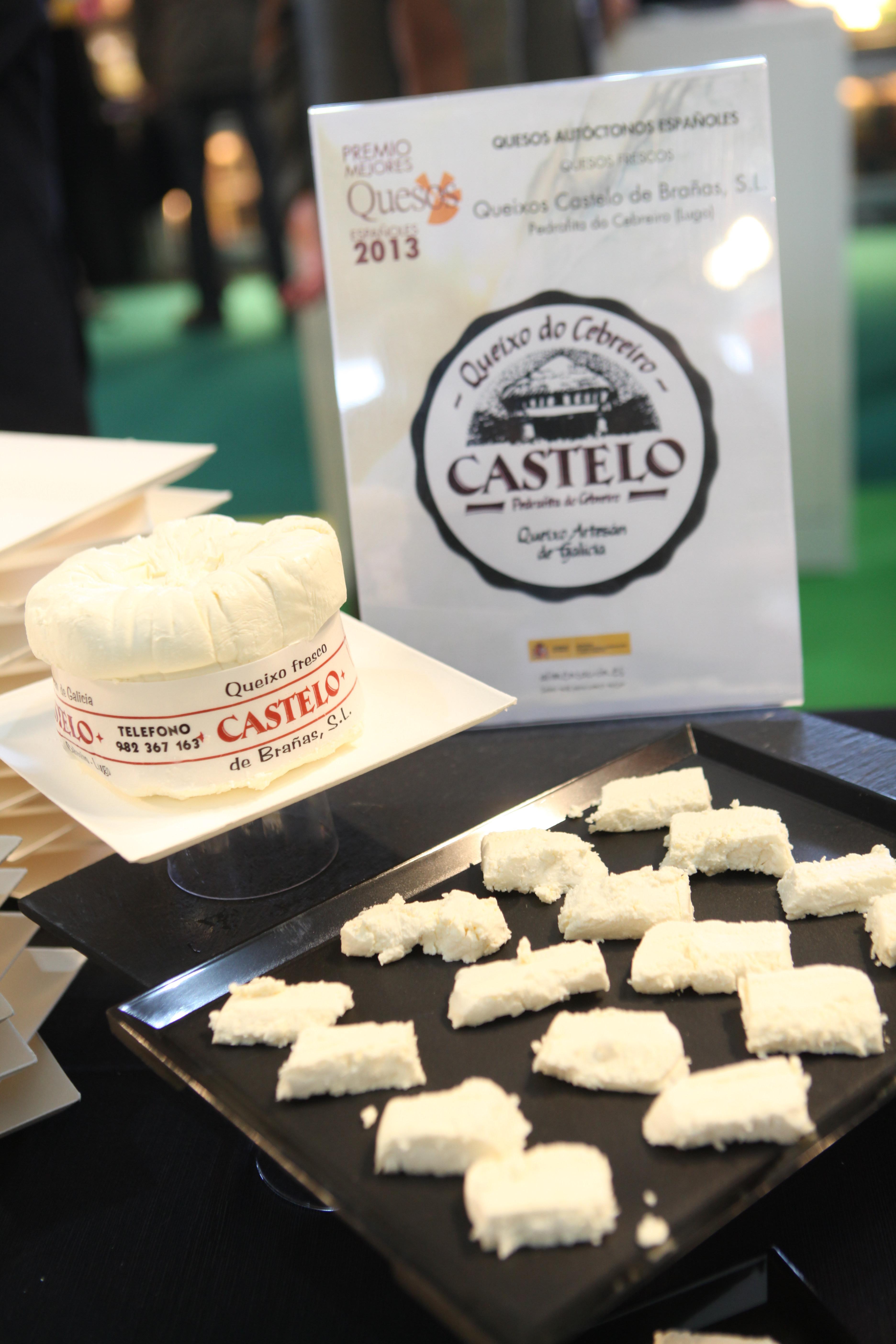 Queso Cebreiro Castelo en Alimentaria. Premios Mejores quesos de España